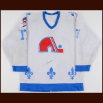 "1986-87 Mark Kumpel Quebec Nordiques Game Worn Jersey – ""Rendezvous '87"""