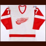 "1985-86 Mike McEwen Detroit Red Wings Game Worn Jersey – ""60-year Anniversary"""