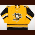 1982-83 Gary Rissling Pittsburgh Penguins Game Worn Jersey – Sunday Gold Alternate
