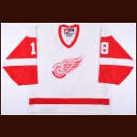 1996-97 Kirk Maltby Detroit Red Wings Game Worn Jersey - Stanley Cup Season