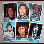 1974-75 OPC Autographed Blues group of 6