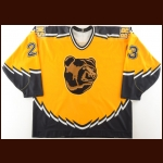 1995-96 Steve Heinze Boston Bruins Game Worn Jersey – Alternate