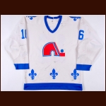 Early 1980's Michel Goulet Quebec Nordiques Game Worn Jersey