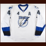 2007-08 Vincent Lecavalier Tampa Bay Lightning Game Worn Jersey - King Clancy Memorial Trophy - All Star Season - 40-Goal, 92-Point Season - Photo Match