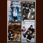 Lof of 4 Autographed Pittsburgh Penguins Programs - Crosby, Malkin & Ovechkin Autographs