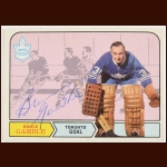 1968-69 Bruce Gamble Toronto Maple Leafs Autographed Card – Deceased