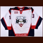 2005-06 Mike Rupp Syracuse Crunch Game Worn Jersey – AHL Letter