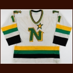 1983-84 Tom McCarthy Minnesota North Stars Game Worn Jersey - Career Best 39-Goal Season