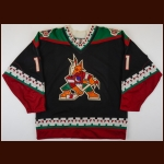 1997-98 Dallas Drake Phoenix Coyotes Game Worn Jersey – Team Letter
