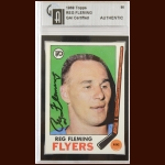 1969-70 Topps Reg Fleming Philadelphia Flyers Autographed Card – Deceased – GAI Certified