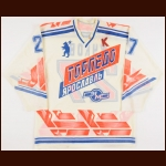 Early 1990's Andrei Zhukov Torpedo Yaroslavl Game Worn Jersey