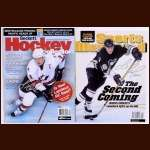 Mario Lemieux Pittsburgh Penguins Autographed Magazine Lot of 2