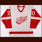 1982-83 Dwight Foster Detroit Red Wings Game Worn Jersey