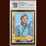 1972-73 Topps Keith McCreary Atlanta Flames Autographed Card – Deceased – GAI Certified