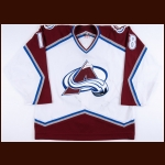 2003-04 Alex Tanguay Colorado Avalanche Game Worn Jersey - Photo Match – Team Letter