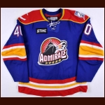 2007-08 Shawn Collymore Norfolk Admirals Game Worn Jersey – AHL Letter