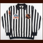 "1989-90 Ray Scappinello NHL Linesman Stanley Cup Finals Game Worn Jersey – ""1990 Stanley Cup Finals – ""J. Mc C."""
