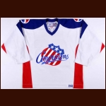 2000's Mark Mancari Rochester Americans Pre-Game Skate Worn Jersey