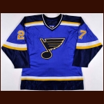 1998-99 Terry Yake St. Louis Blues Game Worn Jersey - Photo Match