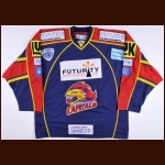 2007-08 Doug Christiansen Edinburgh Capitals Game Worn Jersey – Elite League Letter