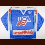 1988 Team USA Selects Game Worn Jersey – Player #15