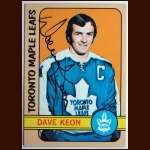 1972-73 Topps  #88 Dave Keon Maple Leafs - Autographed