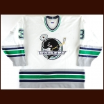 1997-98 Shaun Fisher Plymouth Whalers Game Worn Jersey - Inaugural Season