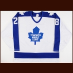 1989-90 Brian Curran Toronto Maple Leafs Game Worn Jersey