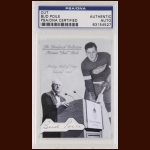 Bud Poile Autographed Card - The Broderick Collection - Deceased