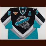 "1994-95 Bob Joyce Las Vegas Thunder Game Worn Jersey – ""Thunder 50-year IHL Anniversary"" – ""1995 Las Vegas 50th IHL All Star Game"""