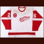 "1981-82 Jim Korn Detroit Red Wings Game Worn Jersey – ""Norris 50 years of Family Ownership"""