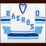1977-78 John Hughes WHA Houston Aeros Game Issued Jersey