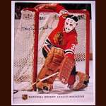 Tony Esposito Chicago Black Hawks Autographed National Hockey League Magazine Cover