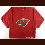 Early 2000's Jim Dowd Minnesota Wild Practice Worn Jersey