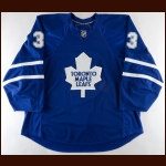 2007-08 Wade Belak Toronto Maple Leafs Game Worn Jersey - Last Home Leafs Jersey - Photo Match – Team Letter