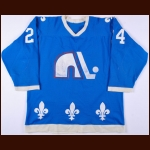 1976-77 Jean Bernier WHA Quebec Nordiques Game Worn Jersey - Avco Cup Season