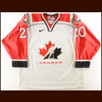 2000 Martin Lapointe Team Canada World Championships Game Worn Jersey – Team Canada Letter
