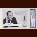 Lester Pearson Autographed Card - The Broderick Collection - Deceased