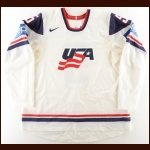 2009 Matt Niskanen Team USA World Championships Game Worn Jersey – Photo Match