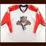 2014-15 Dylan Olsen Florida Panthers Game Worn Jersey - Photo Match – Team Letter