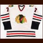 1980-81 Glen Sharpley Chicago Blackhawks Game Worn Jersey - Photo Match