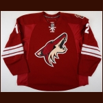 2010-11 Paul Bissonnette Phoenix Coyotes Training Camp Worn Jersey - Photo Match – Team Letter