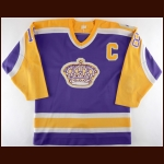 "1986-87 Dave Taylor Los Angeles Kings Game Worn Jersey – ""20-year Anniversary"""