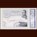 Tommy Ivan Autographed Card - The Broderick Collection - Deceased
