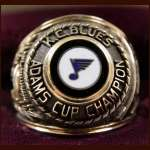1976-77 Emile Francis Kansas City Blues Adams Cup 10k Gold Championship Ring