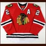 2010-11 Duncan Keith Chicago Blackhawks Game Worn Jersey – Team Letter