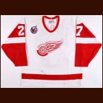 1992-93 Jim Cummins Detroit Red Wings Game Worn Jersey – Rookie – Team Letter
