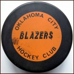 CHL Oklahoma City Blazers Old Style Logo Puck