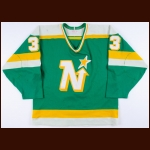 1985-86 Don Beaupre Minnesota North Stars Game Worn Jersey