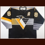 1995-96 Jaromir Jagr Pittsburgh Penguins Game Worn Jersey – Alternate - Career Best 62-Goal, 87 Assists & 149-Point Season - 1st Team NHL All Star - All Star Season - Photo Match